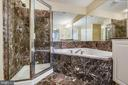 Separate soothing corner tub and Walk in Shower. - 7016 CLINTON CT #22A, ANNAPOLIS