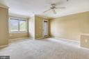 Spacious Owner's bedroom with ample windows. - 7016 CLINTON CT #22A, ANNAPOLIS