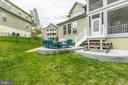 The yard has dual patios - 17109 GULLWING DR, DUMFRIES