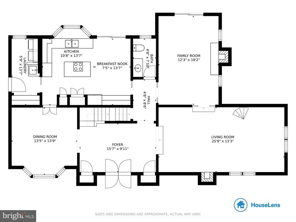 Main level - 1020 MONROE ST, HERNDON