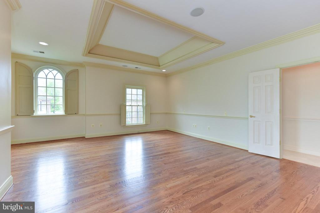 Owner's Suite with Cove Ceiling and hardwood floor - 3823 N RANDOLPH CT, ARLINGTON