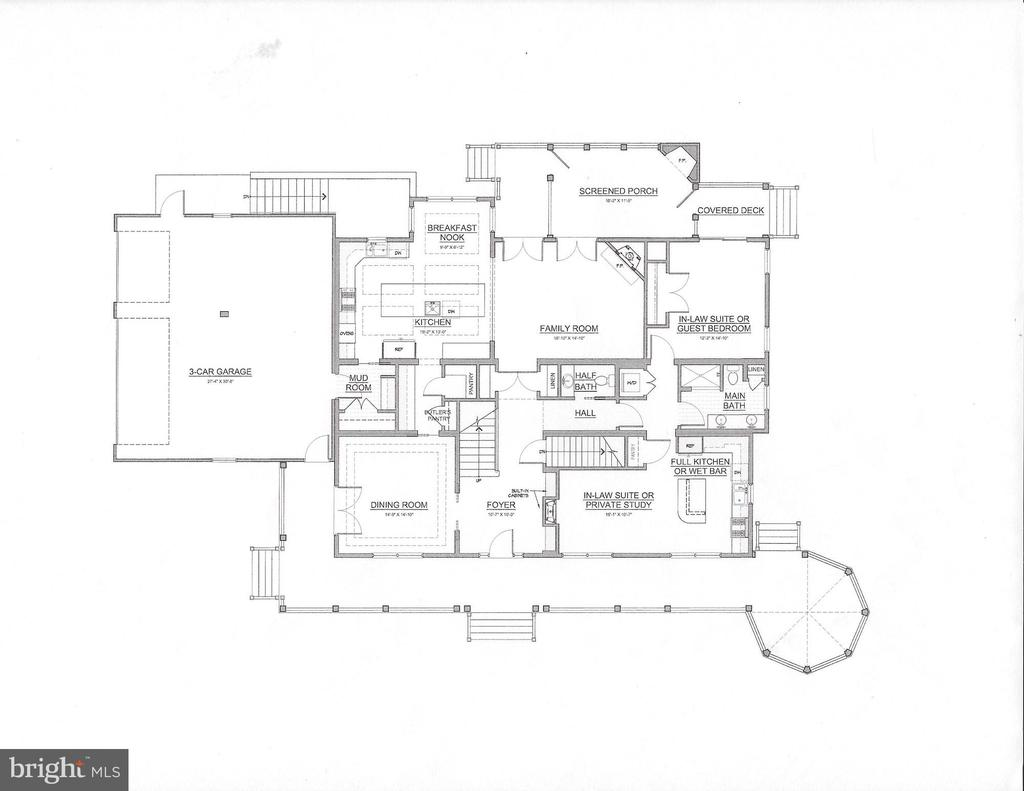 Main Level Drawing - 3538 SLADE RUN DR, FALLS CHURCH