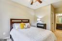 Main level bedroom, No stairs great for guests! - 17966 WOODS VIEW DR, DUMFRIES