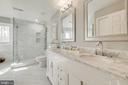 Master Bath with Dual Sinks and Marble Countertops - 4257 MOOT DR, DUMFRIES