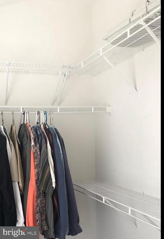 two large Master bedroom closets - 12222 DORRANCE CT, RESTON