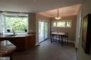 Kitchen with B'fast area & grill deck - 10651 OAKTON RIDGE CT, OAKTON