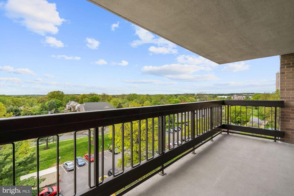Living room balcony view - 5501 SEMINARY RD #611S, FALLS CHURCH