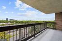 Master bedroom balcony - 5501 SEMINARY RD #611S, FALLS CHURCH