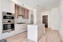 Kitchen island, quartz countertop, custom cabinets - 801 N NW #303, WASHINGTON