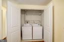 Full size washer & dryer. - 1021 N GARFIELD ST #409, ARLINGTON