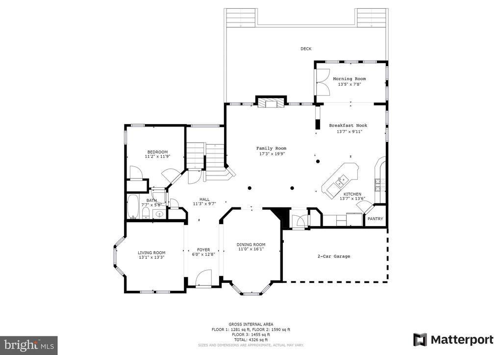 Main level floorplan - 43262 LECROY CIR, LEESBURG