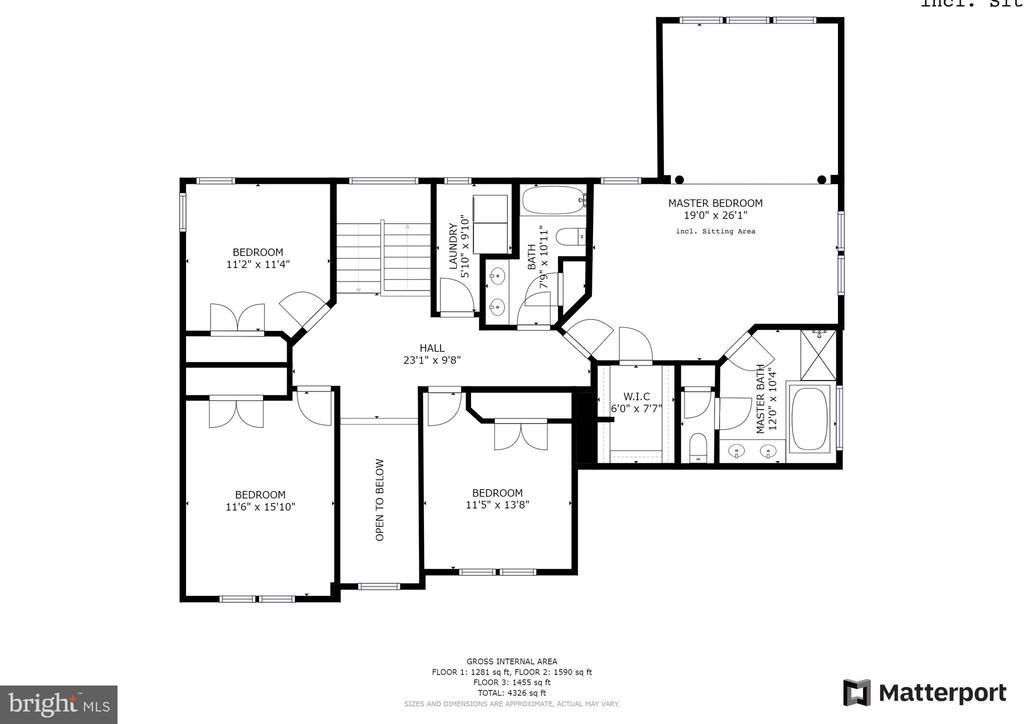 Upper level floorplan - 43262 LECROY CIR, LEESBURG