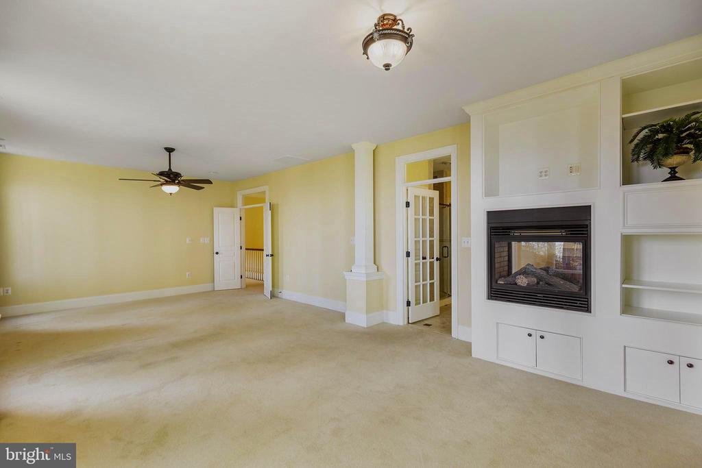 MBR, double sided fireplace and en suite bathroom - 825 CAMP CONOY RD, LUSBY