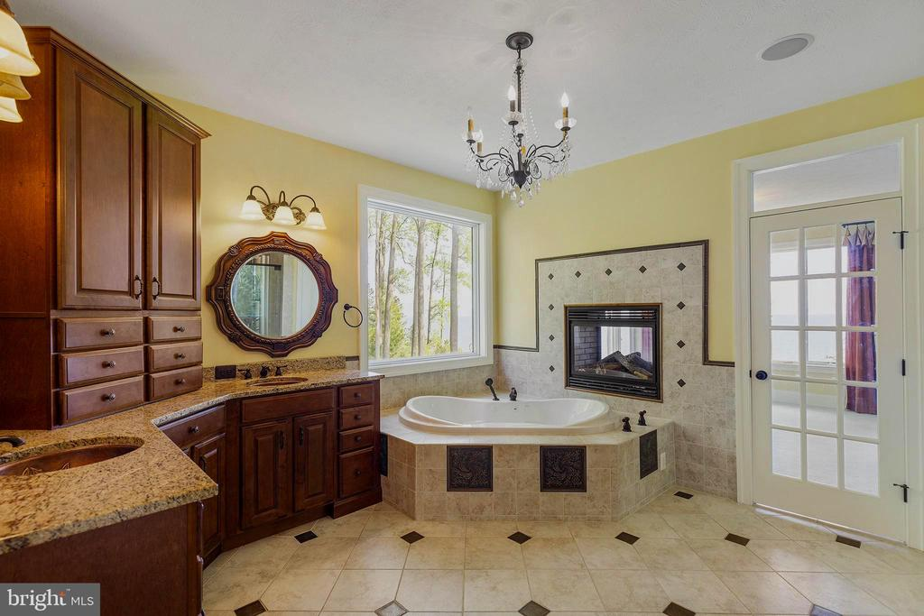 Well appointed bathroom w/fireplace and views - 825 CAMP CONOY RD, LUSBY