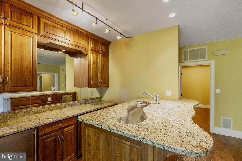 Full bar with custom sink and cabinets - 825 CAMP CONOY RD, LUSBY