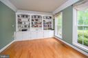 Built-in bookcases in the study - 14616 JUNCTION CT, FREDERICKSBURG