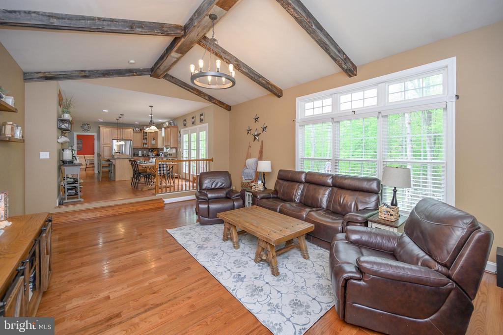 Large family room with gas fire place - 14616 JUNCTION CT, FREDERICKSBURG