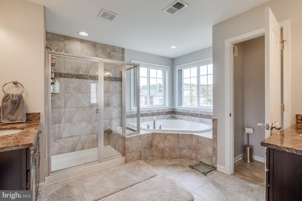Master Bathroom with soaking tub & walk in shower - 6008 FOX HAVEN CT, WOODBRIDGE