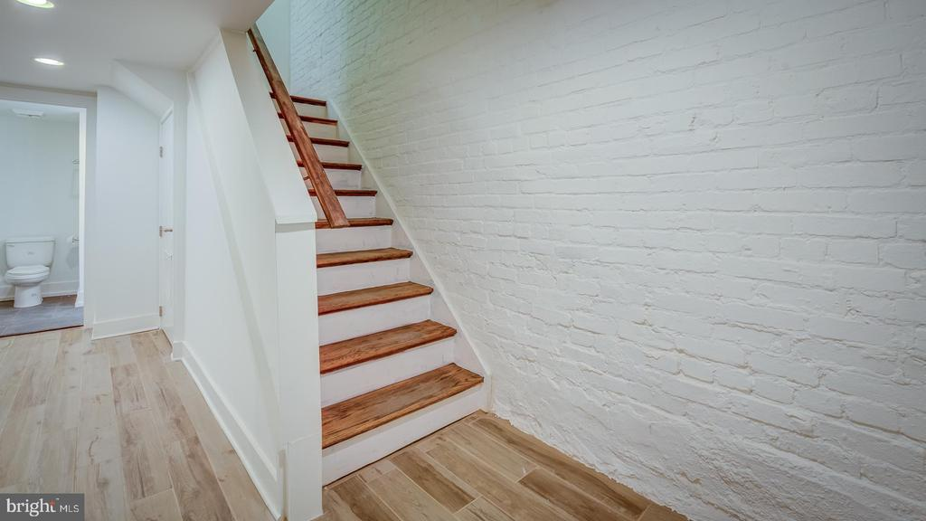 Stairs to main Level - 4314 14TH ST NW #B, WASHINGTON
