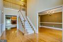 Two story Foyer with Dual Staircase to Upstairs - 11903 POWDER MILL CT, SPOTSYLVANIA