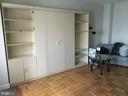 Living Room with Murphy Bed and Shelves - 1021 ARLINGTON BLVD #311, ARLINGTON
