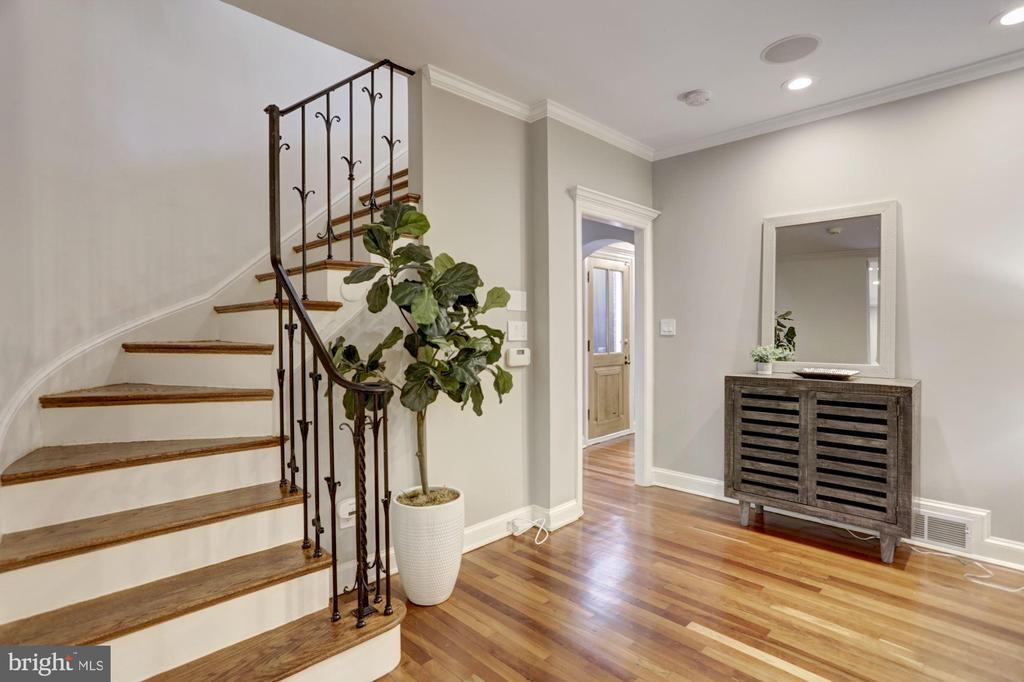 Lovely hardwood staircase leading to 2nd Floor - 1510 26TH ST NW, WASHINGTON