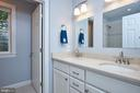 Upper second bath with double sinks & heated floor - 2912 S GRANT ST, ARLINGTON