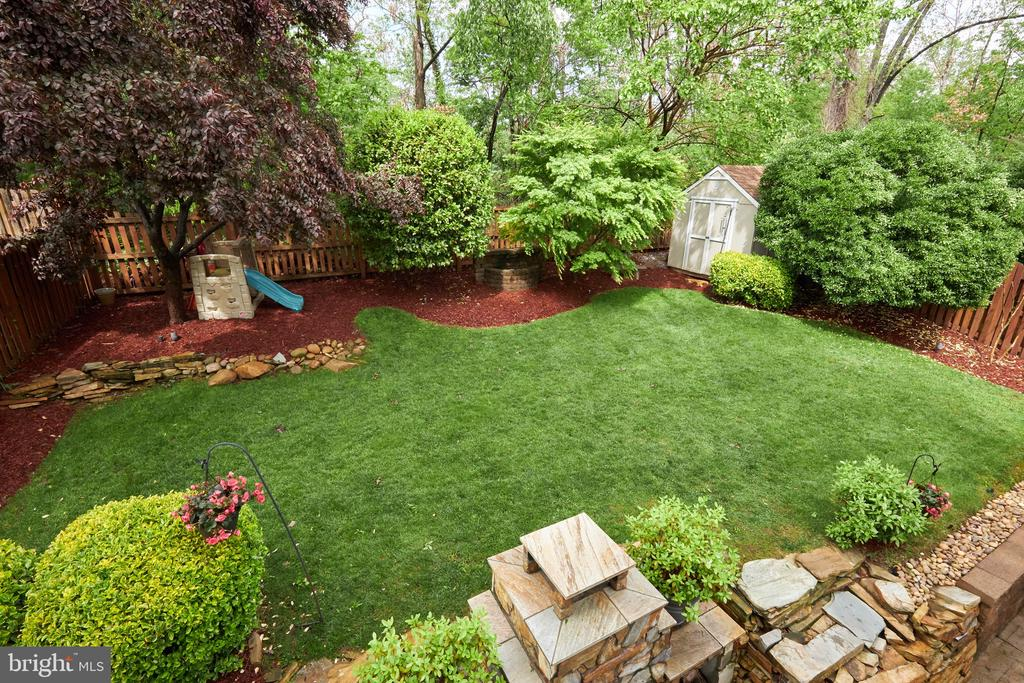 Overall of the backyard - 2912 S GRANT ST, ARLINGTON