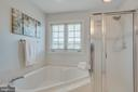 Separate shower and soaking tub with window - 43771 APACHE WELLS TER, LEESBURG
