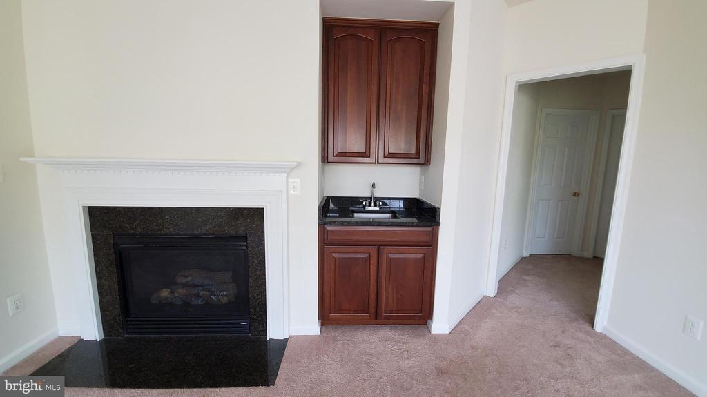 Master bedroom with fireplace - 18805 PIER TRAIL DR, TRIANGLE