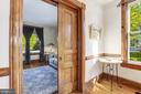 Stunning woodwork and pocket door entrance - 407 S KING ST, LEESBURG
