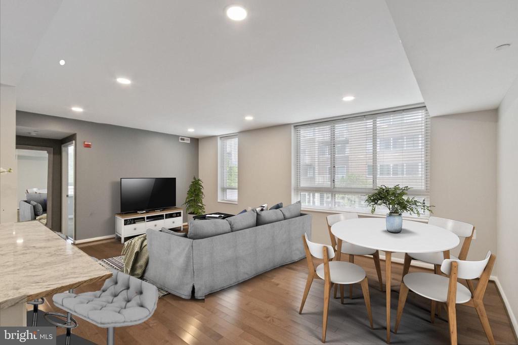 Virtually staged Living Room - 350 G ST SW #N224, WASHINGTON