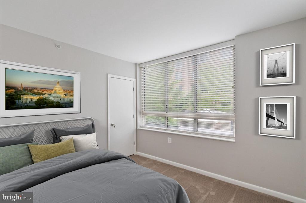 Virtually staged  Bedroom - 350 G ST SW #N224, WASHINGTON