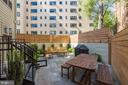Common patio with gas grill - 2434 16TH ST NW #301, WASHINGTON