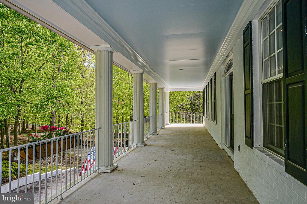 Upper Level Covered Porch with Pillars - 12970 WYCKLAND DR, CLIFTON