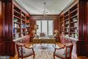 Cherry Paneled Executive Office w/ Built-ins - 12970 WYCKLAND DR, CLIFTON