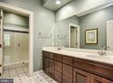 Double Vanities in Upper Level Master Bath - 12970 WYCKLAND DR, CLIFTON