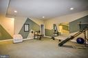 Large Exercise Room with Private Staircase - 12970 WYCKLAND DR, CLIFTON