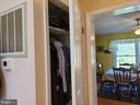 Convenient coat closet - 544 PYLETOWN RD, BOYCE