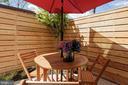 Super private patio. - 1015 D ST NE #B, WASHINGTON