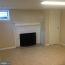 Lower Level Living/Rec Room With Fireplace - 604 N EMERSON ST, ARLINGTON
