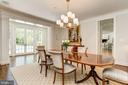 Dining Room with views beyond to pool and terraces - 5321 GOLDSBORO RD, BETHESDA