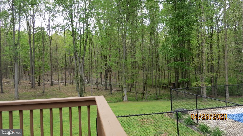 Backyard view from deck - 22191 BERRY RUN RD, ORANGE