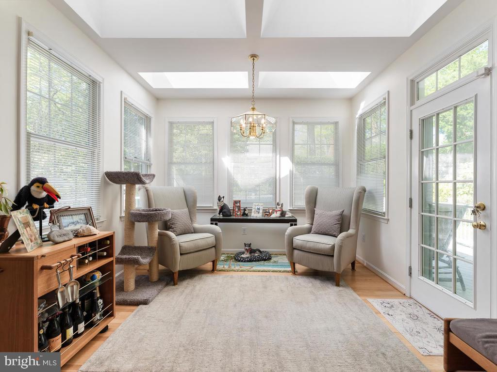 Breakfast Room with Exit to Rear Deck - 4311 WOODBERRY ST, UNIVERSITY PARK