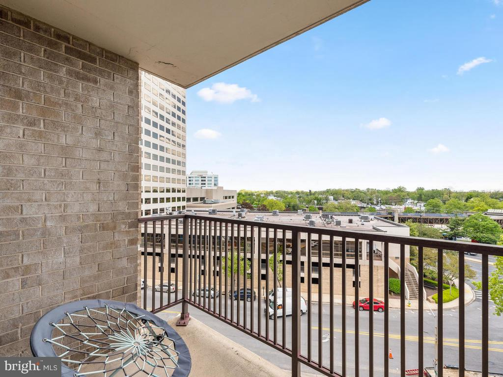 View #2 from Balcony - 4 MONROE ST #711, ROCKVILLE