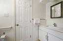 Master bath renovated in neutral finishes - 7808 CHARLESTON DR, BETHESDA