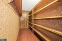 Huge cedar closet provides tons of storage - 7808 CHARLESTON DR, BETHESDA