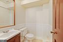 Lower level bathroom has been renovated as well - 7808 CHARLESTON DR, BETHESDA