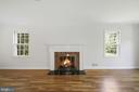 Formal living room with fireplace - 7808 CHARLESTON DR, BETHESDA