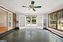 French doors to rear patio - 7808 CHARLESTON DR, BETHESDA